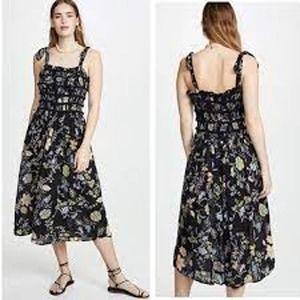 Free People NEW Isla Floral Midi Sundress Medium